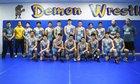Santa Fe Demons Boys Varsity Wrestling Winter 17-18 team photo.