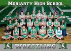 Moriarty Pintos Boys Varsity Wrestling Winter 17-18 team photo.