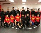 Espanola Valley Sundevils Boys Varsity Wrestling Winter 17-18 team photo.