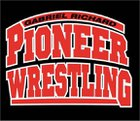 Richard Pioneers Boys Varsity Wrestling Winter 17-18 team photo.