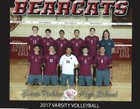 Paso Robles Bearcats Boys Varsity Volleyball Spring 16-17 team photo.