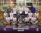 Queen Creek Bulldogs Boys Varsity Volleyball Spring 16-17 team photo.