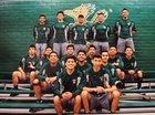 Saddleback Roadrunners Boys Varsity Volleyball Spring 16-17 team photo.