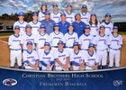 Christian Brothers Falcons Boys Freshman Baseball Spring 17-18 team photo.