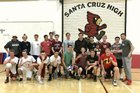 Santa Cruz Cardinals Boys Varsity Volleyball Spring 17-18 team photo.