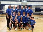 Bingham Miners Boys Varsity Volleyball Spring 17-18 team photo.