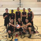 North Valley Military Institute Hawks Boys Varsity Volleyball Spring 17-18 team photo.