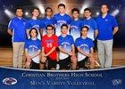 Christian Brothers Falcons Boys Varsity Volleyball Spring 17-18 team photo.
