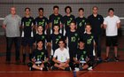 Pacific Lutheran Stingrays Boys Varsity Volleyball Spring 17-18 team photo.