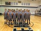 Horizon Honors Eagles Boys Varsity Volleyball Spring 17-18 team photo.