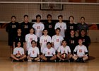 Lincoln Tigers Boys Varsity Volleyball Spring 17-18 team photo.