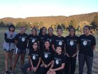Navajo Prep Eagles Girls Varsity Cross Country Fall 17-18 team photo.