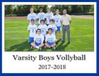 Shaker Bison Boys Varsity Volleyball Fall 17-18 team photo.