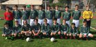 Charles Wright Tarriers Boys Varsity Soccer Spring 15-16 team photo.