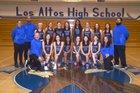 Los Altos Eagles Girls Varsity Basketball Winter 18-19 team photo.