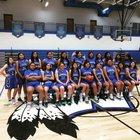 Winnebago Indians Girls Varsity Basketball Winter 18-19 team photo.