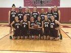 Ludlow Lions Girls Varsity Basketball Winter 18-19 team photo.