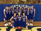 Mountainburg Dragons Girls Varsity Basketball Winter 18-19 team photo.