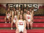 Liberty Eagles Girls Varsity Basketball Winter 18-19 team photo.