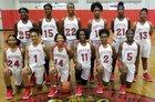 West Florida Jaguars Girls Varsity Basketball Winter 18-19 team photo.