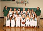 St. John Woodchucks Girls Varsity Basketball Winter 18-19 team photo.