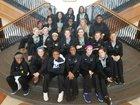Cathedral Fighting Irish Girls Varsity Basketball Winter 18-19 team photo.