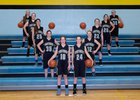 Arvada-Clearmont Panthers Girls Varsity Basketball Winter 18-19 team photo.