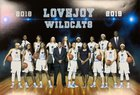 Lovejoy Wildcats Girls Varsity Basketball Winter 18-19 team photo.