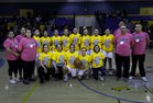 Dulce Hawks Girls Varsity Basketball Winter 18-19 team photo.