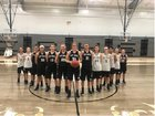 Cossatot River Eagles Girls Varsity Basketball Winter 18-19 team photo.