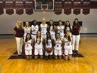 Santa Fe Catholic Hawks Girls Varsity Basketball Winter 18-19 team photo.