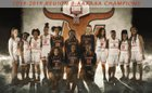 Lanier Longhorns Girls Varsity Basketball Winter 18-19 team photo.