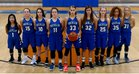 Rocklin Thunder Girls Varsity Basketball Winter 18-19 team photo.