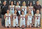 Mendocino Cardinals Girls Varsity Basketball Winter 18-19 team photo.