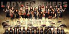 Peninsula Panthers Girls Varsity Basketball Winter 18-19 team photo.