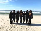 Quitman County Hornets Girls Varsity Basketball Winter 18-19 team photo.