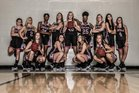 Forsyth Central Bulldogs Girls Varsity Basketball Winter 18-19 team photo.
