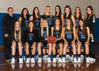 Davis Blue Devils Girls Varsity Basketball Winter 18-19 team photo.