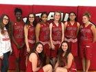 Mountain Pine Red Devils Girls Varsity Basketball Winter 18-19 team photo.