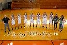 Oden Timberwolves Girls Varsity Basketball Winter 18-19 team photo.
