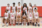 Roland Park Country Reds Girls Varsity Basketball Winter 18-19 team photo.