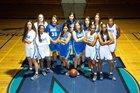 Norco Cougars Girls Varsity Basketball Winter 18-19 team photo.
