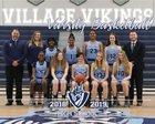 Village Vikings Girls Varsity Basketball Winter 18-19 team photo.