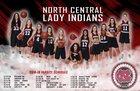 North Central Indians Girls Varsity Basketball Winter 18-19 team photo.