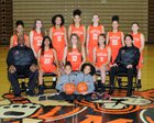 Washington Tigers Girls Varsity Basketball Winter 18-19 team photo.