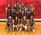 Midlothian Heritage Jaguars Girls Varsity Basketball Winter 18-19 team photo.