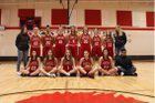 Rawlins Outlaws Girls Varsity Basketball Winter 18-19 team photo.