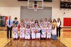 Kaycee Buckaroos Girls Varsity Basketball Winter 18-19 team photo.
