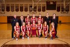 Enumclaw Hornets Girls Varsity Basketball Winter 18-19 team photo.