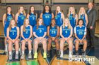 Liberty Patriots Girls Varsity Basketball Winter 18-19 team photo.